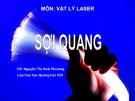 Bài thuyết trình Vật lý laser: Sợi quang