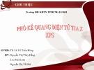 Bài thuyết trình Phổ kế quang điện tử tia X XPS