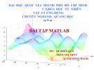 Bài thuyết trình Quang học: Bài tập Matlab