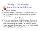 Bài giảng Chương 5: Các hiệu ứng quang học phi tuyến bậc cao