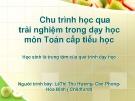 Bài thuyết trình: Chu trình học qua trải nghiệm trong dạy học môn Toán cấp tiểu học – Lê Thị Thu Hương, Cao Phong, Hòa Bình