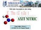 Tiểu luận công nghệ hóa đại cương: Kỹ thuật sản xuất Axit Nitric