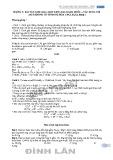 Các dạng bài tập Hóa học - THPT