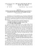 Báo cáo sơ kết tình hình thực hiện quyết định số 08/QĐ-TTg ngày 06-01-2015 và chỉ thị số 13/CT-TGg ngày 10-6-2015 của Thủ tướng Chính phủ