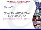 Bài giảng Quản lý dự án phần mềm: Chương 6 - Trần Thị Kim Chi