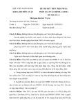 Đề thi kết thúc học phần: Pháp luật tài chính LAW05A