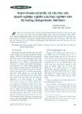 Thanh khoản cổ phiếu và cấu trúc vốn doanh nghiệp: Nghiên cứu thực nghiệm trên thị trường chứng khoán Việt Nam