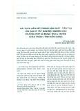 Bài toán liên kết trong sản xuất - tiêu thụ lúa gạo ở Tây Nam bộ: Nghiên cứu trường hợp xã Mong Thọ A, huyện Châu Thành, tỉnh Kiên Giang