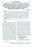 Nghiên cứu khả năng gây độc cấp tính và hội chứng hoại tử gan tụy do thuốc Clo hữu cơ gây ra đối với tôm sú Penaeus monodon và tôm chân trắng Litopenaeus vannamei ở Đồng bằng Sông Cửu Long