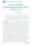 Quan điểm và định hướng chuyển đổi mô hình tăng trưởng ở Việt Nam giai đoạn 2011 - 2020