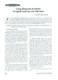 Cộng đồng Kinh tế ASEAN và nguồn nhân lực của Việt Nam