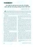 Xác định tỷ suất sinh lợi của các cổ phiếu niêm yết trên thị trường chứng khoán Việt Nam