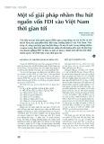 Một số giải pháp nhằm thu hút nguồn vốn FDI vào Việt Nam thời gian tới