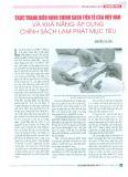 Thực trạng điều hành chính sách tiền tệ của Việt Nam và khả năng áp dụng chính sách lạm phát mục tiêu