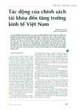 Tác động của chính sách tài khóa đến tăng trưởng kinh tế Việt Nam