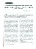 Các yếu tố ảnh hưởng tới rủi ro tín dụng của các quỹ tín dụng nhân dân ở khu vực Đồng bằng Sông Cửu Long