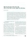 Một số giải pháp nhằm thúc đẩy đầu tư trực tiếp ra nước ngoài của Việt Nam