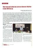 Thực trạng quản lý khoa học xã hội và nhân văn ở Việt Nam từ năm 2000 đến nay