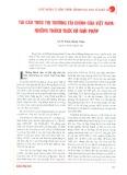 Tái cấu trúc thị trường tài chính của Việt Nam: Những thách thức và giải pháp