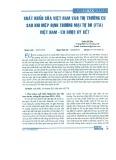 Xuất khẩu Việt Nam vào thị trường EU sau khi Hiệp định Thương mại Tự do (FTA) Việt Nam - EU được ký kết