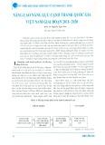 Nâng cao năng lực cạnh tranh quốc gia Việt Nam giai đoạn 2011 - 2020