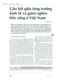 Gắn kết giữa sự tăng trưởng kinh tế và giảm nghèo bền vững ở Việt Nam
