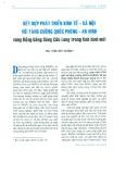 Kết hợp phát triển kinh tế - xã hội với tăng cường quốc phòng an ninh vùng Đồng bằng Sông Cửu Long trong tình hình mới