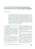 Lựa chọn mô hình quản trị phù hợp trong quá trình tái cấu trúc doanh nghiệp ở Việt Nam