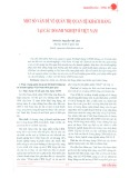 Một số vấn đề về quản trị quan hệ khách hàng tại các doanh nghiệp ở Việt Nam