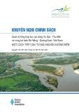 """Khuyến nghị chính sách: Quản lý tổng hợp lưu vực sông Vu Gia - Thu Bồn và vùng bờ biển Đà Nẵng - Quảng Nam, Việt Nam - Một cách tiếp cận """"từ đầu nguồn xuống biển"""""""
