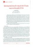 Kiểm định giả thuyết hội tụ đối với năng suất nhân tố tổng hợp trong sản xuất nông nghiệp Việt Nam
