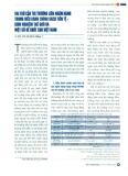Vai trò của thị trường liên ngân hàng trong điều hành chính sách tiền tệ - kinh nghiệm thế giới và một số đề xuất cho Việt Nam