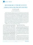 Phân tổ theo khu vực thể chế và cải cách chính sách tiền lương công chức hành chính