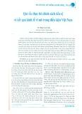 Quy tắc thực thi chính sách tiền tệ và kết quả kinh tế vĩ mô trong điều kiện Việt Nam