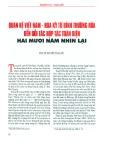 Quan hệ Việt Nam - Hoa Kỳ từ bình thường hóa đến đối tác hợp tác toàn diện hai mươi năm nhìn lại