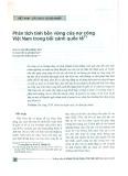 Phân tích tính bền vững của nợ công Việt Nam trong bối cảnh quốc tế