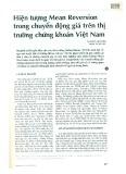 Hiện tượng Mean Reversion trong chuyển động giá trên thị trường chứng khoán Việt Nam