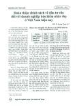 Hoàn thiện chính sách về đầu tư vốn đối với doanh nghiệp bảo hiểm nhân thọ ở Việt Nam hiện nay