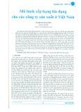 Mô hình xếp hạng tín dụng cho các công ty sản xuất ở Việt Nam