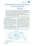 Môi trường kinh doanh của doanh nghiệp Việt Nam: Thực trạng và khuyến nghị