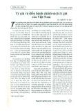 Tỷ giá và điều hành chính sách tỷ giá của Việt Nam