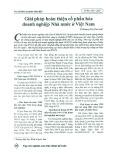 Giải pháp hoàn thiện cổ phần hóa doanh nghiệp nhà nước ở Việt Nam