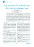 Bàn về việc sử dụng thông tin tài chính trong phân tích báo cáo tài chính doanh nghiệp