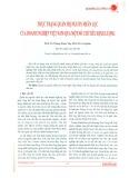Thực trạng quản trị nguồn nhân lực của doanh nghiệp Việt Nam qua một số chỉ tiêu định lượng