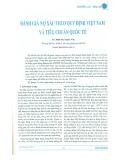 Đánh giá nợ xấu theo quy định Việt Nam và tiêu chuẩn quốc tế