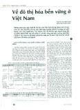 Về đô thị hóa bền vững ở Việt Nam
