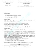 Đề thi tuyển sinh lớp 10 môn Toán năm học 2015-2016 - Sở GD&ĐT Hưng Yên