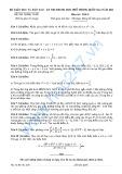 Đề thi tuyển sinh THPT Quốc gia môn Toán nắm 2015 - Bộ GD&ĐT