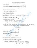 Bài tập nhị thức Newton
