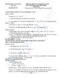 Đề kiểm tra học kỳ I môn Toán lớp 12 năm 2012-2013 - Sở GD&ĐT Gia Lai